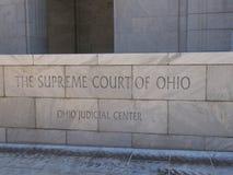 Het Hooggerechtshof Front Entrance Sign van Ohio royalty-vrije stock foto
