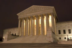 Het Hooggerechtshof van de V.S. bij Nacht Royalty-vrije Stock Foto's