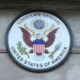 Het Hooggerechtshof van de V S Consulaat-generaal in Edinburgh, Schotland royalty-vrije stock foto