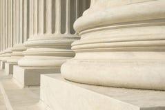 Het Hooggerechtshof van de V.S. - Kolommen stock foto