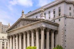 Het Hooggerechtshof van New York Stock Afbeelding