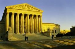 Het Hooggerechtshof van Verenigde Staten in de avond zon Stock Afbeelding