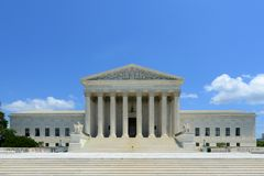 Het Hooggerechtshof van Verenigde Staten in Washington DC, de V.S. Royalty-vrije Stock Foto