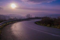 Het hoogland road Royalty-vrije Stock Foto's