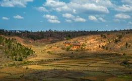 Het hooglandlandschap van Madagascar Stock Foto