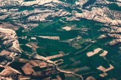 Het hoogste mooie landschap van de satellietbeeldberg, stock fotografie