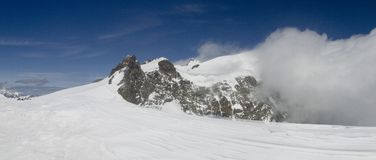 Het hoogste panorama van Vincent van de winter royalty-vrije stock foto