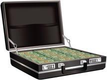 Het hoogtepunt van de aktentas van contant geld Royalty-vrije Stock Afbeelding