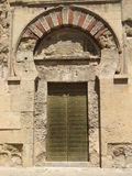 Het hoogtepunt van de de moskeedeur van Cordoba Stock Foto