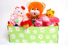 Het hoogtepunt van de doos van puppy stock foto's
