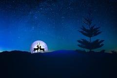 Het hoogtepunt van de hemel van sterren royalty-vrije illustratie