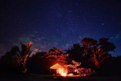Het hoogtepunt van de hemel van sterren Stock Fotografie