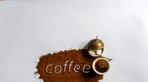 Het hoogtepunt van de koffiekop van zwarte koffie royalty-vrije stock foto