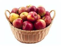Het hoogtepunt van de mand van appelen Royalty-vrije Stock Afbeelding