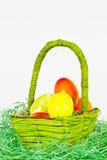 Het hoogtepunt van de mand van eieren Stock Afbeelding