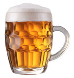 Het hoogtepunt van de mok van vers bier. royalty-vrije stock fotografie