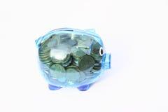 Het hoogtepunt van het besparingsvarken van geld stock afbeeldingen