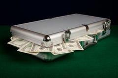 Het hoogtepunt van het geval van Contant geld royalty-vrije stock foto