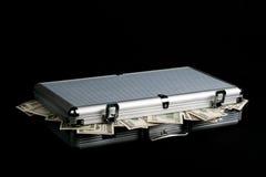 Het hoogtepunt van het geval van Contant geld royalty-vrije stock afbeeldingen
