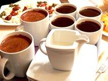 Het hoogtepunt van koppen van koffie Royalty-vrije Stock Fotografie