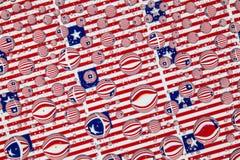 Het hoogtepunt van regendalingen van de vlaggen van Liberia Stock Foto's