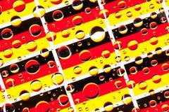 Het hoogtepunt van regendalingen van Duitse vlaggen Royalty-vrije Stock Afbeelding