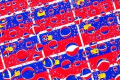 Het hoogtepunt van regendalingen van Lichtenstein-vlaggen Stock Afbeeldingen