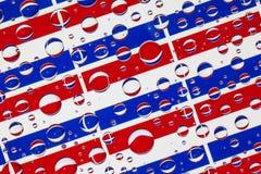 Het hoogtepunt van regendalingen van Nederlandse vlaggen Stock Afbeelding