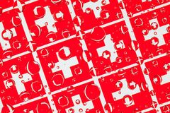 Het hoogtepunt van regendalingen van Zwitserse vlaggen Royalty-vrije Stock Afbeelding