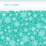 Het Horizontale Gescheurde Naadloze Patroon van de sneeuwvloktextuur Royalty-vrije Stock Afbeeldingen