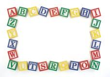 Het Horizontale Houten Frame van het Blok ABC Royalty-vrije Stock Foto