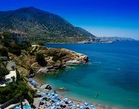Het horizontale strand van Griekenland Kreta Stock Foto's
