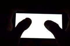 Het horizontale witte scherm van de telefoon Stock Foto
