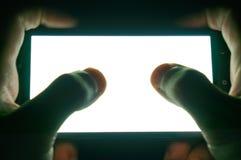 Het horizontale witte scherm van de telefoon Royalty-vrije Stock Afbeelding