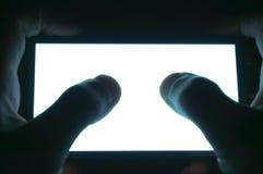 Het horizontale witte scherm van de telefoon Stock Afbeelding