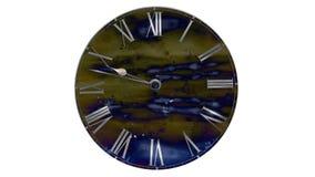 Het horloge gaat snel De Klok van de tijdtijdspanne Snel vliegende wolken royalty-vrije illustratie