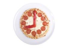 Het horloge van de pizza Royalty-vrije Stock Foto's