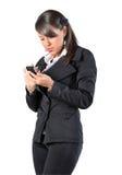 Het horloge van de vrouw een telefoon Royalty-vrije Stock Afbeeldingen