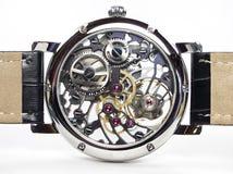 Het Horloge van het art deco - de Beweging van het Skelet Stock Fotografie