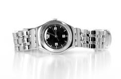 Het horloge van het chroom Stock Foto's