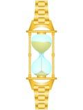Het horloge van het zand Stock Afbeeldingen
