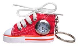 Het horloge zeer belangrijke ketting van de schoen Stock Fotografie