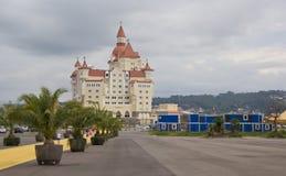 Het hotel complexe ` Bogatyr ` in Adler Stock Fotografie