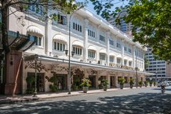 Het Hotel Continentale Saigon royalty-vrije stock foto's