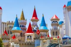 Het Hotel en het Casino van Excalibur in Las Vegas, Nevada Stock Foto