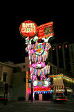 Het hotel en het casinosigh van het circuscircus bij nacht, Reno, Nevada Stock Foto