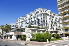 Het Hotel Martinez, Frankrijk van Grand Hyatt Cannes Stock Afbeeldingen