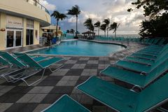 Het Hotel Oceaanpunt van de DoubleTreetoevlucht, Strand het Noord- van Miami Stock Foto's