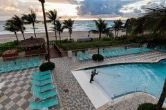 Het Hotel Oceaanpunt van de DoubleTreetoevlucht, Strand het Noord- van Miami Stock Afbeelding
