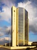 Het Hotel Praag, Tsjechische republiek van Corinthiatorens Stock Foto's